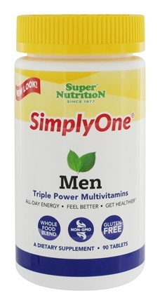Super Nutrition - Simply One Men Multivitamin - 90 Vegetarian Tablets