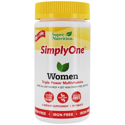 Super Nutrition - Simply One Women Multivitamin Iron Free - 90 Tablets