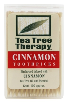 Tea Tree Therapy - Tea Tree Toothpicks Cinnamon - 100 Pick(s)