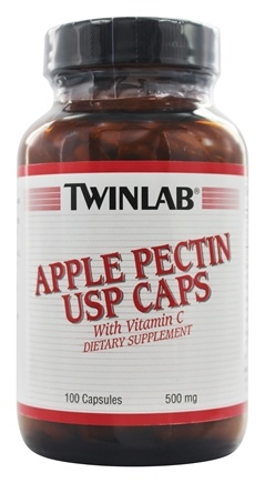 DROPPED: Twinlab - Apple Pectin USP Caps With Vitamin C 500 mg. - 100 Capsules