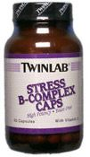 DROPPED: Twinlab - Stress B-Complex Caps with Vitamin C - 50 Capsules