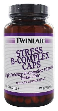 Twinlab - Stress B-Complex High-Potency Caps with Vitamin C - 100 Capsules