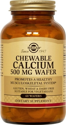 DROPPED: Solgar - Chewable Calcium 500 mg. - 60 Chewable Wafers CLEARANCE PRICED