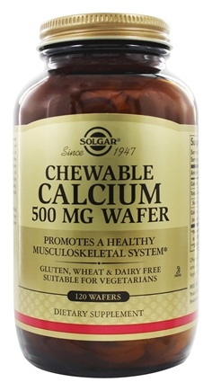 Solgar - Chewable Calcium 500 mg. - 120 Chewable Wafers