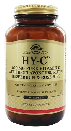 Solgar - Hy-C (600 Mg Vitamin C With 100 Mg Bioflavaoids) - 250 Tablets