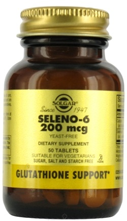 DROPPED: Solgar - Seleno 6 (Yeast-Free Selenium) 200 mcg. - 50 Tablets CLEARANCE PRICED