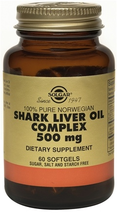 DROPPED: Solgar - Shark Liver Oil Complex 500 mg. - 60 Softgels CLEARANCE PRICED
