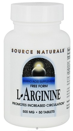 DROPPED: Source Naturals - L-Arginine Free Form 500 mg. - 50 Tablets CLEARANCE PRICED