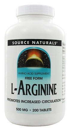 Source Naturals - L-Arginine Free Form 500 mg. - 200 Tablets