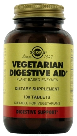 DROPPED: Solgar - Vegetarian Digestive Aid Chewable Tablets - 100 Chewable Tablets CLEARANCE PRICED