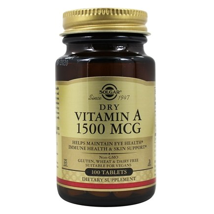 Solgar - Vitamin A 5000 IU - 100 Tablets
