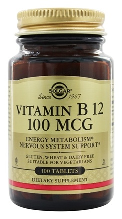 Solgar - Vitamin B12 100 mcg. - 100 Tablets