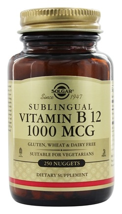 Solgar - Vitamin B12 Sublingual 1000 mcg. - 250 Nugget(s)