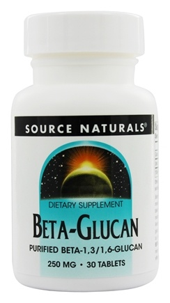 Source Naturals - Beta Glucan 250 mg. - 30 Tablets