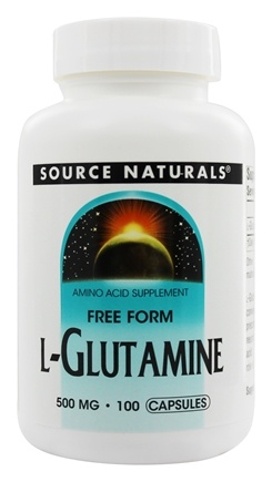 Source Naturals - L-Glutamine Free Form Amino Acid 500 mg. - 100 Capsules