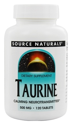 Source Naturals - Taurine 500 mg. - 120 Tablets
