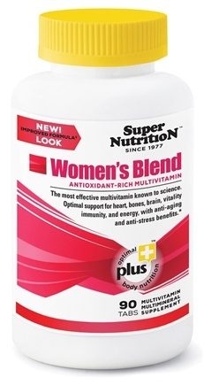 DROPPED: Super Nutrition - Women's Blend - 90 Vegetarian Tablets CLEARANCE PRICED