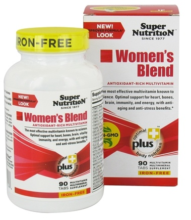 DROPPED: Super Nutrition - Women's Blend Iron Free - 90 Vegetarian Tablets CLEARANCE PRICED