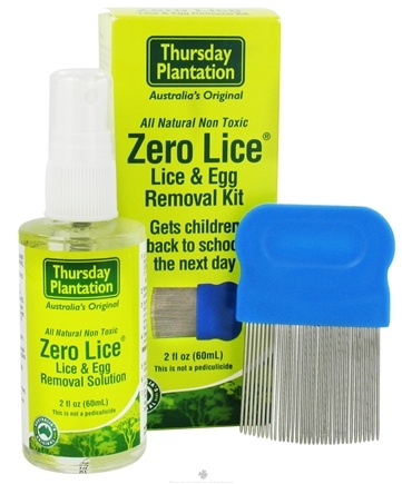 DROPPED: Thursday Plantation - Zero Lice Lice & Egg Removal Kit - 2 oz. CLEARANCE PRICED