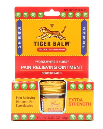 Tiger Balm - Extra Strength Pain Relieving Ointment - 0.63 oz. Formerly Red