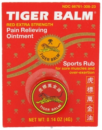 DROPPED: Tiger Balm - Extra Strength Pain Relieving Ointment - 0.14 oz. CLEARANCE PRICED