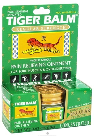 Tiger Balm - Regular Strength Pain Relieving Ointment - 0.63 oz. Formerly White
