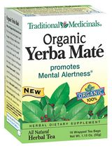 DROPPED: Traditional Medicinals - Organic Yerba Mate Tea - 16 Tea Bags