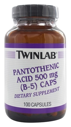 Twinlab - B-5 Pantothenic Acid 500 mg. - 100 Capsules LUCKY PRICE