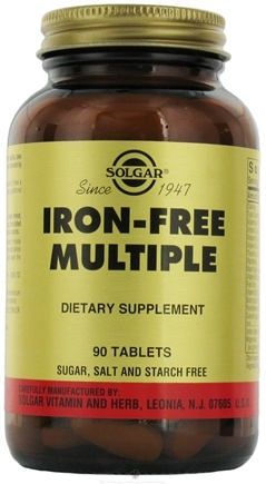 DROPPED: Solgar - Iron-Free Multiple - 90 Tablets