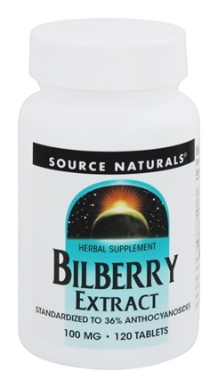 Source Naturals - Bilberry Extract 100 mg. - 120 Tablets
