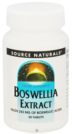 DROPPED: Source Naturals - Boswellia Extract 243 mg. - 50 Tablets CLEARANCE PRICED