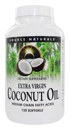 Source Naturals - Extra Virgin Coconut Oil - 120 Softgels