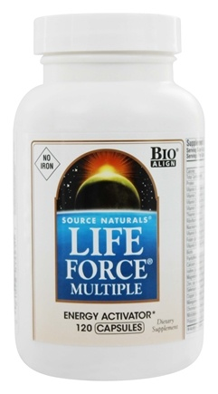Source Naturals - Life Force Multiple Energy Activator No Iron - 120 Capsules