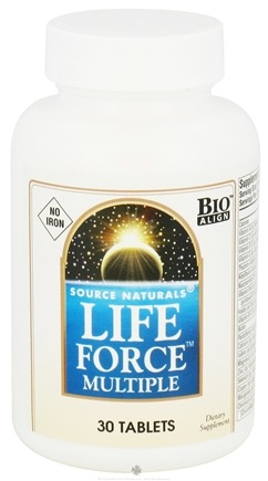 DROPPED: Source Naturals - Life Force Multiple No Iron - 30 Tablets CLEARANCED PRICED
