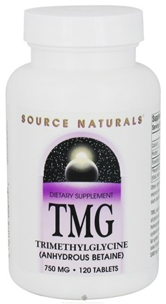 DROPPED: Source Naturals - TMG Trimethylglycine 750 mg. - 120 Tablets CLEARANCE PRICED