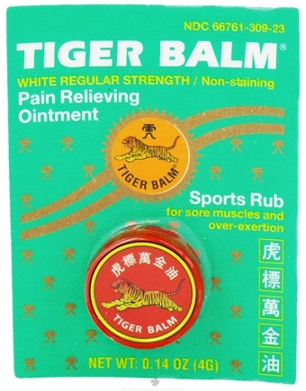 DROPPED: Tiger Balm - Regular Strength Pain Relieving Ointment - 0.14 oz. Formerly White CLEARANCE PRICED