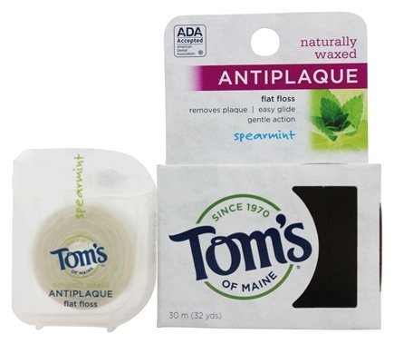 Tom's of Maine - Antiplaque Flat Floss Spearmint - 32 Yard(s)