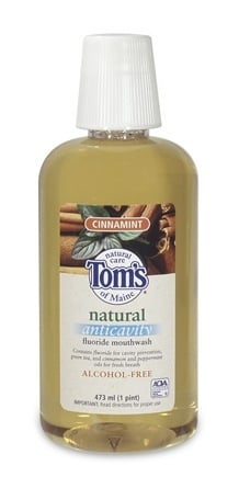 DROPPED: Tom's of Maine - Natural Anticavity Fluoride Mouthwash Cinnamint - 16 oz.
