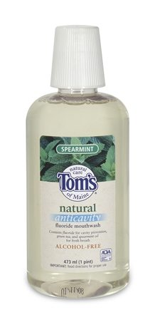 DROPPED: Tom's of Maine - Natural Anticavity Fluoride Mouthwash Spearmint - 16 oz. CLEARANCE PRICED