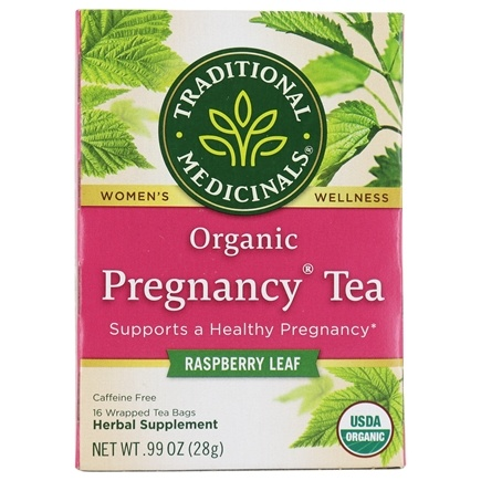 Traditional Medicinals - Organic Pregnancy Tea - Supports Healthy Pregnancy - 16 Tea Bags