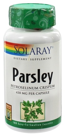 DROPPED: Solaray - Parsley 430 mg. - 100 Capsules