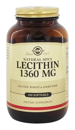 Solgar - Lecithin 1360 mg. - 100 Softgels