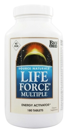 Source Naturals - Life Force Multiple Energy Activator No Iron - 180 Tablets