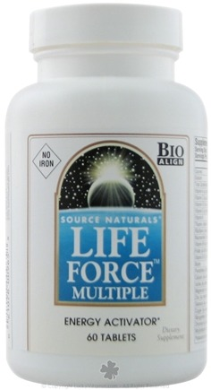 DROPPED: Source Naturals - Life Force Multiple Energy Activator No Iron - 60 Tablets