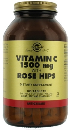 DROPPED: Solgar - Vitamin C with Rose Hips 1500 mg. - 180 Tablets