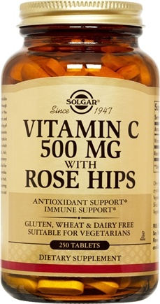 DROPPED: Solgar - Vitamin C With Rose Hips 500 mg. - 250 Tablets