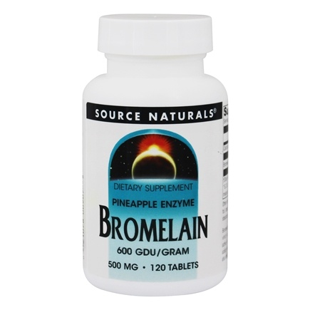 Source Naturals - Bromelain Pineapple Enzyme 600 GDU/Gram 500 mg. - 120 Tablets