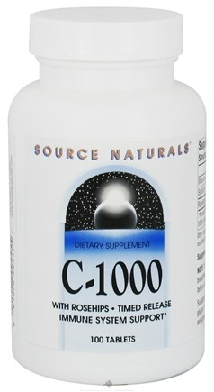 DROPPED: Source Naturals - C-1000 with Rosehips Timed Release 1000 mg. - 100 Tablets CLEARANCE PRICED