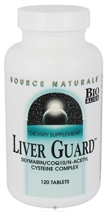 DROPPED: Source Naturals - Liver Guard Silymarin CoQ10 N-Acetyl Cysteine Complex - 120 Tablets CLEARANCED PRICED