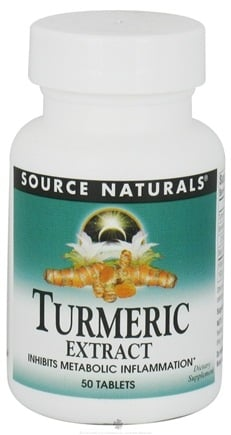 DROPPED: Source Naturals - Turmeric Extract - 50 Tablets